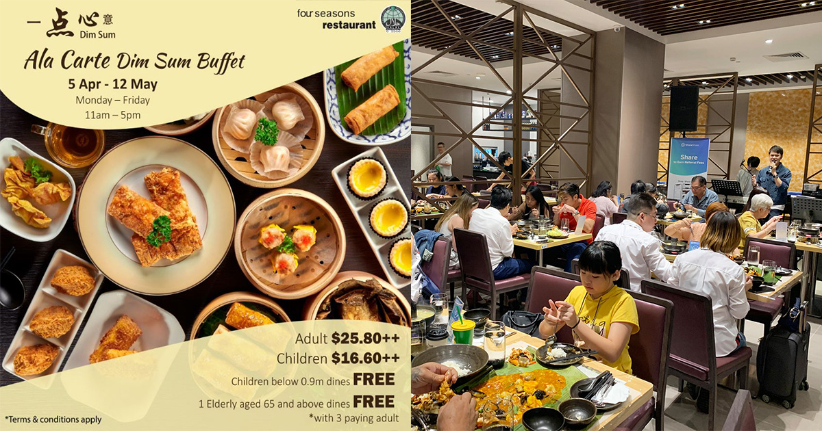 Four Seasons Restaurant offers Dim Sum Buffet for $25.80, Seniors 65 & above dines FREE