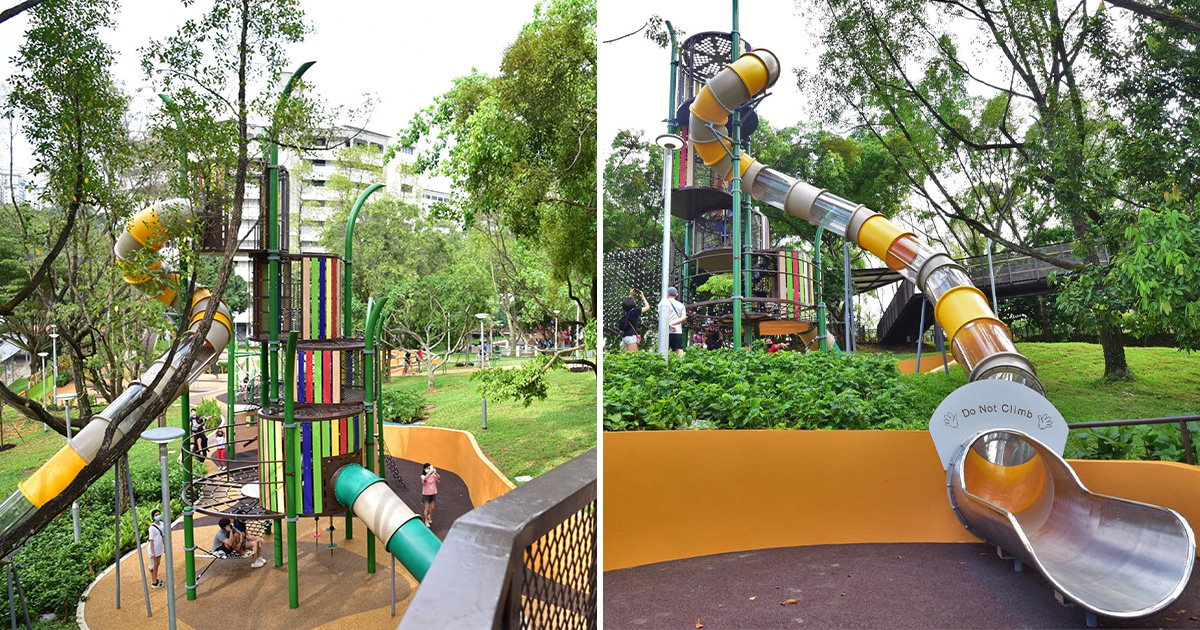 Fuji Hill Park in Bukit Batok has new Playground with Challenging Tower & Giant Tube Slides