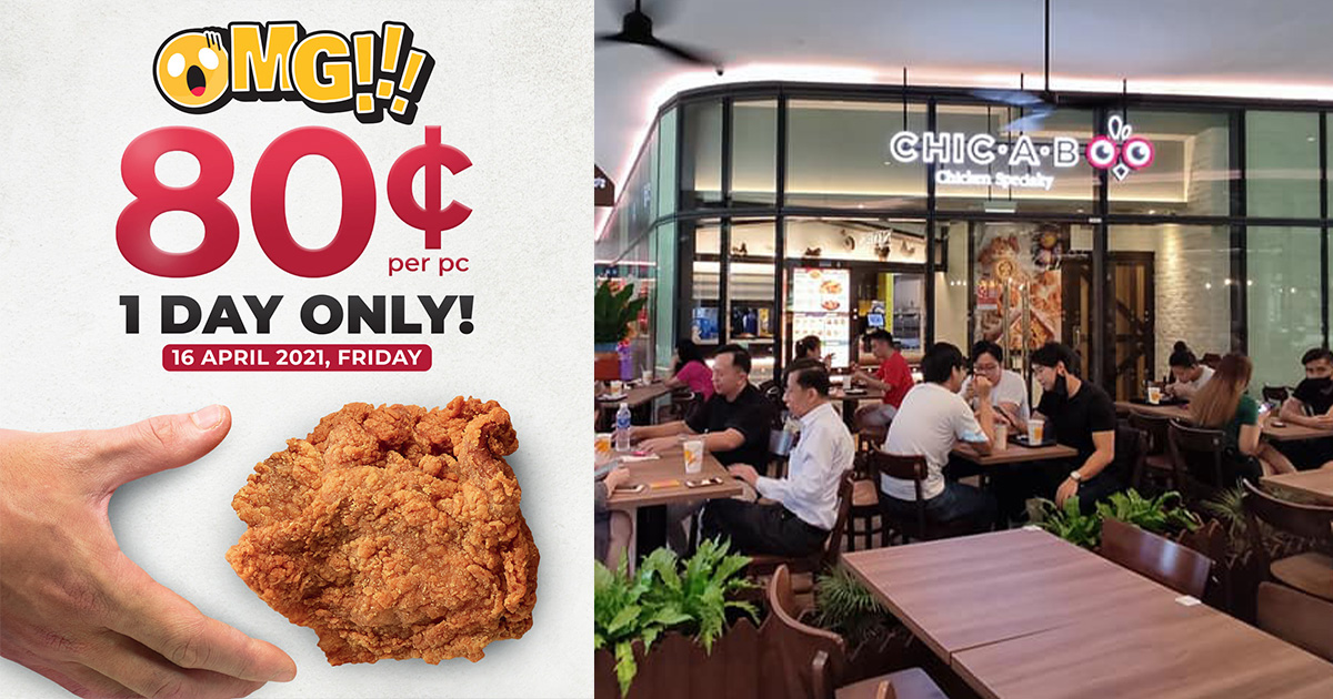 Chic-A-Boo opens in Woods Square, offers $0.80 Fried Chicken Opening Promotion all day on Apr 16