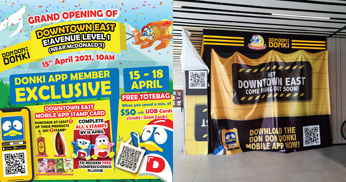 Don Don Donki Downtown East opens on Apr 15, has FREE Tote Bag & lots of exclusive promotions