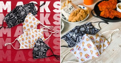 KFC S'pore selling Finger Lickin' Facemasks for $1.95 each, has day & night designs to choose