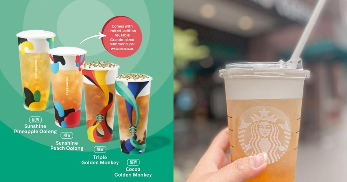 Starbucks launching Full-Leaf Iced Tea Series from Apr 21, has Reusable Summer Cups you can bring home