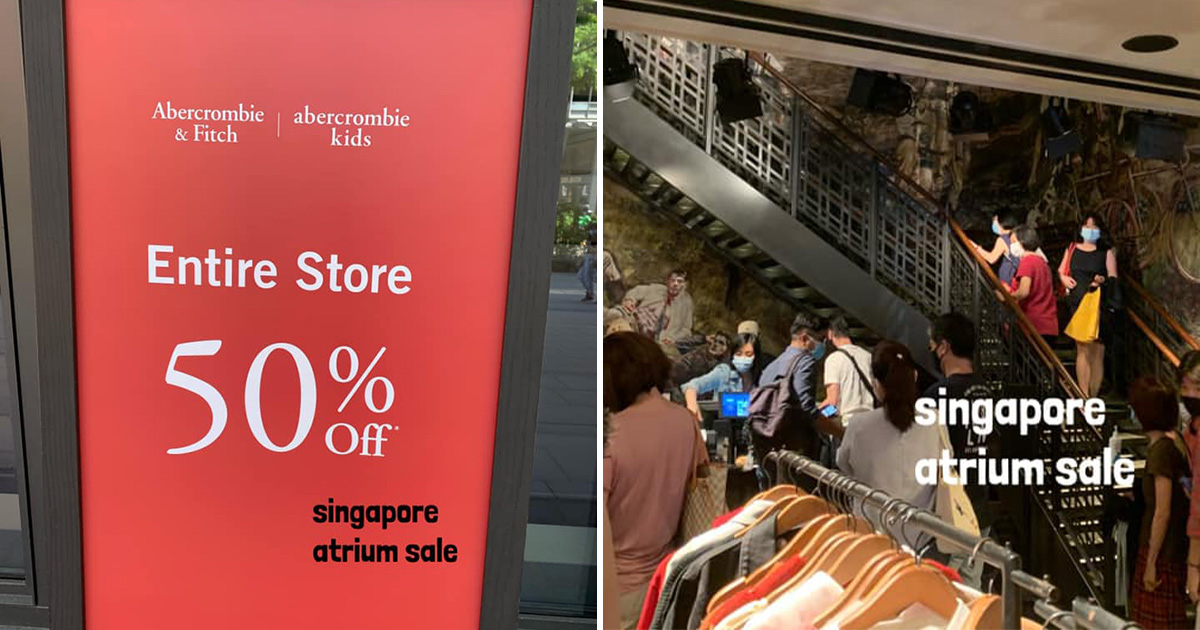 Abercrombie & Fitch S'pore closing for good, offers 50% OFF Sale on Everything in Store till May 2