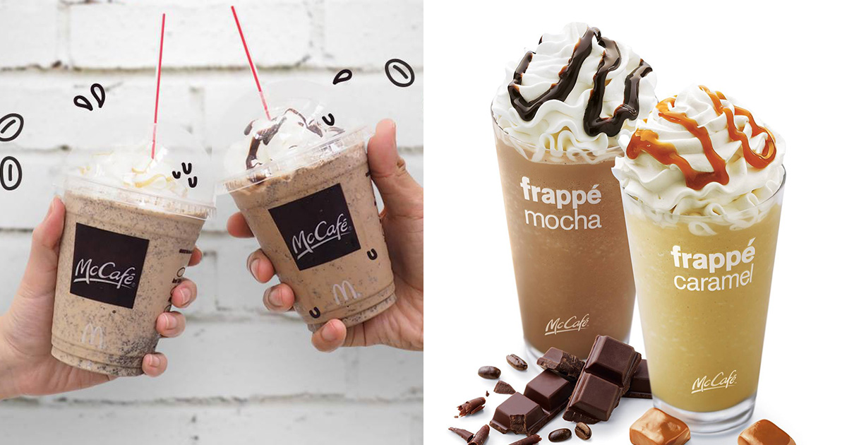 McDonald's selling Frappe drinks for only $2.50 each at McCafe when you buy 2 till May 9