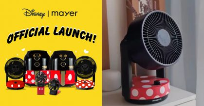 Mayer S'pore launches Disney's Mickey Mouse Collection of Air Fryer, Circulator & USB Fans from $34.90