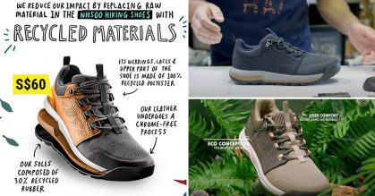 Decathlon S'pore selling eco-friendly Hiking Shoes for only S$60, available in men & women sizes