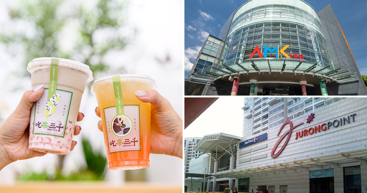 Redeem any CHICHA San Chen (吃茶三千) bubble tea drink for only S$1 at AMK Hub & Jurong Point till Jul 31