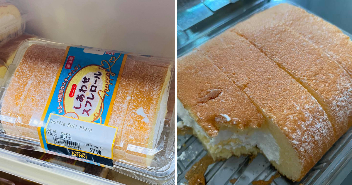 Don Don Donki has Plain & Chocolate Souffle Roll Cakes that are so addictive they're flying off the shelves
