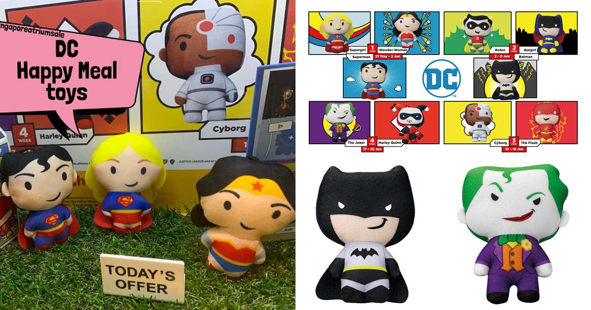 McDonald's releases DC Superheroes Happy Meal Toys, has new plushies to collect weekly till Jun 23