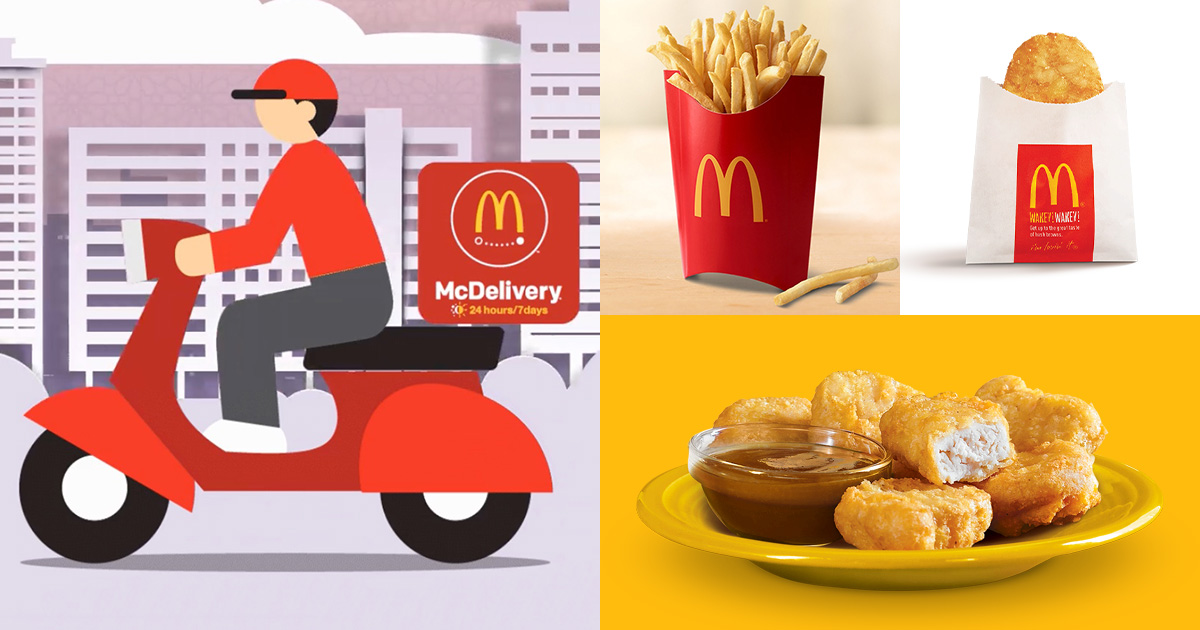 Use these McDelivery Promo Codes for FREE Large Fries, Hashbrown & $1 Chicken McNuggets till Jun 15
