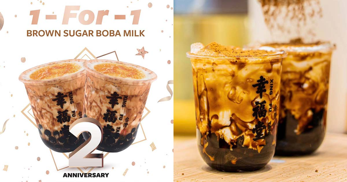 Xing Fu Tang (幸福堂) to offer all-day 1-FOR-1 Brown Sugar Boba Milk at all S'pore outlets till Jun 13