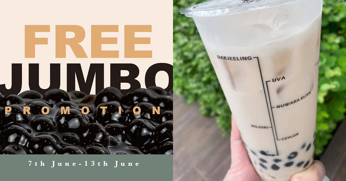 KOI S'pore is giving away FREE Jumbo Pearl Toppings to all customers at 11 outlets till Jun 13