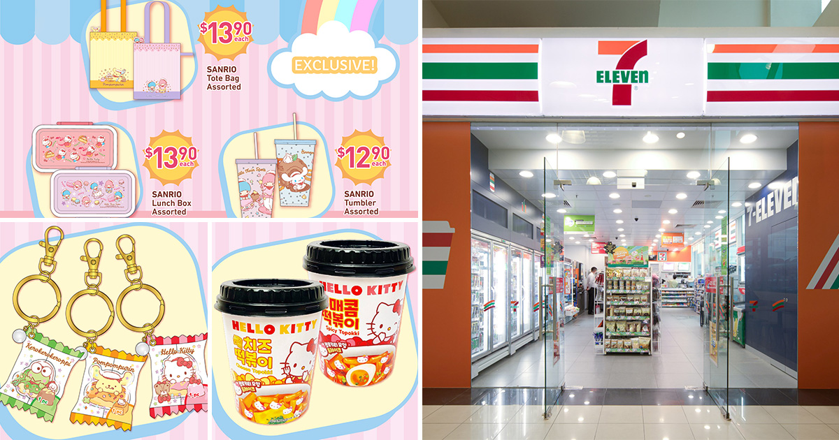 7-Eleven selling Sanrio-themed Merchandises from $3.90 including Lunch Box, Umbrella, Keychain & more