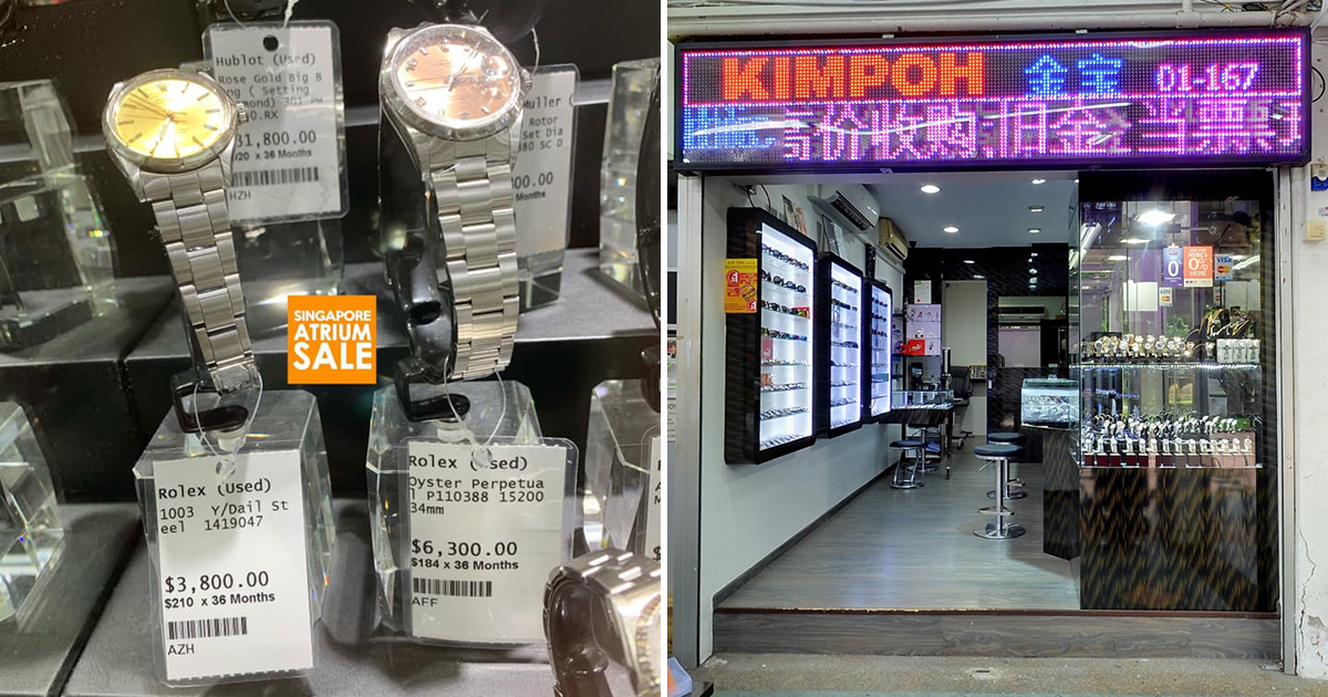 Bedok Watch & Jewellery Shop selling pre-loved Rolex watches from S$3,800, even has instalment plans