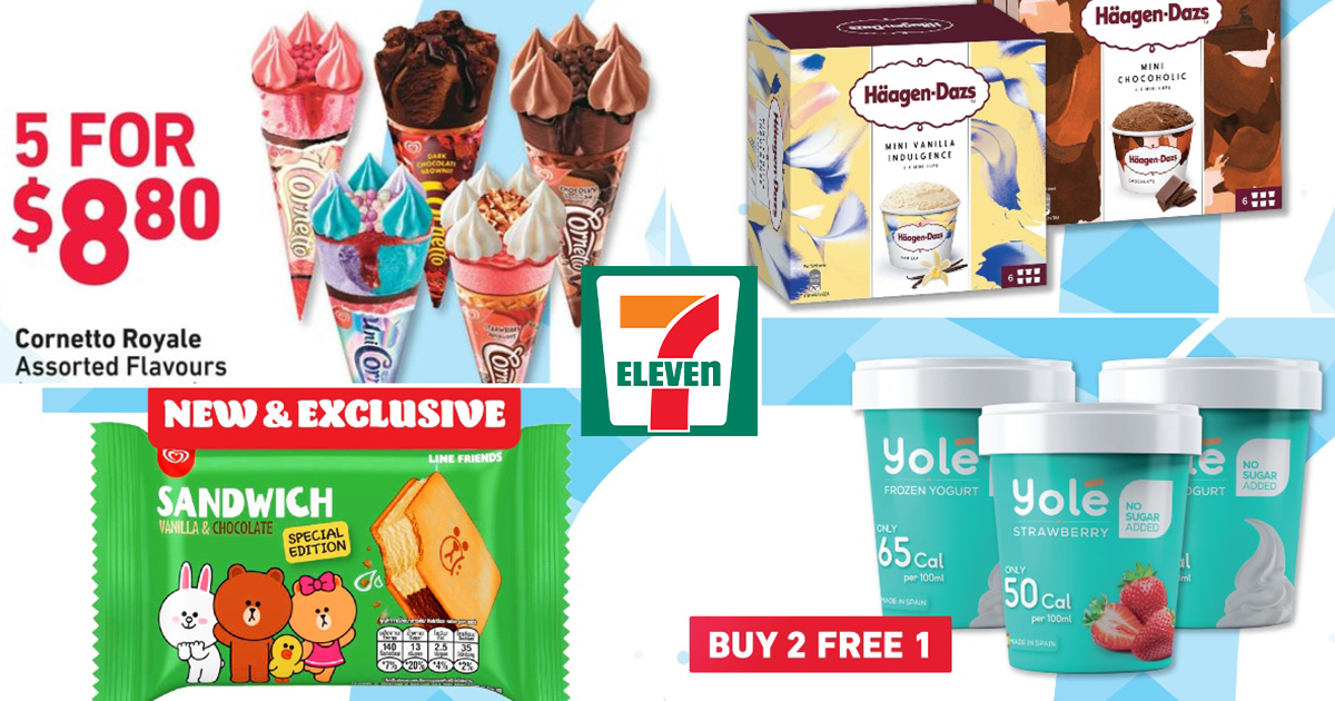 7-Eleven has Ice Cream Deals from $1.25 including Cornetto, Häagen-Dazs & Yolé for a limited time this June