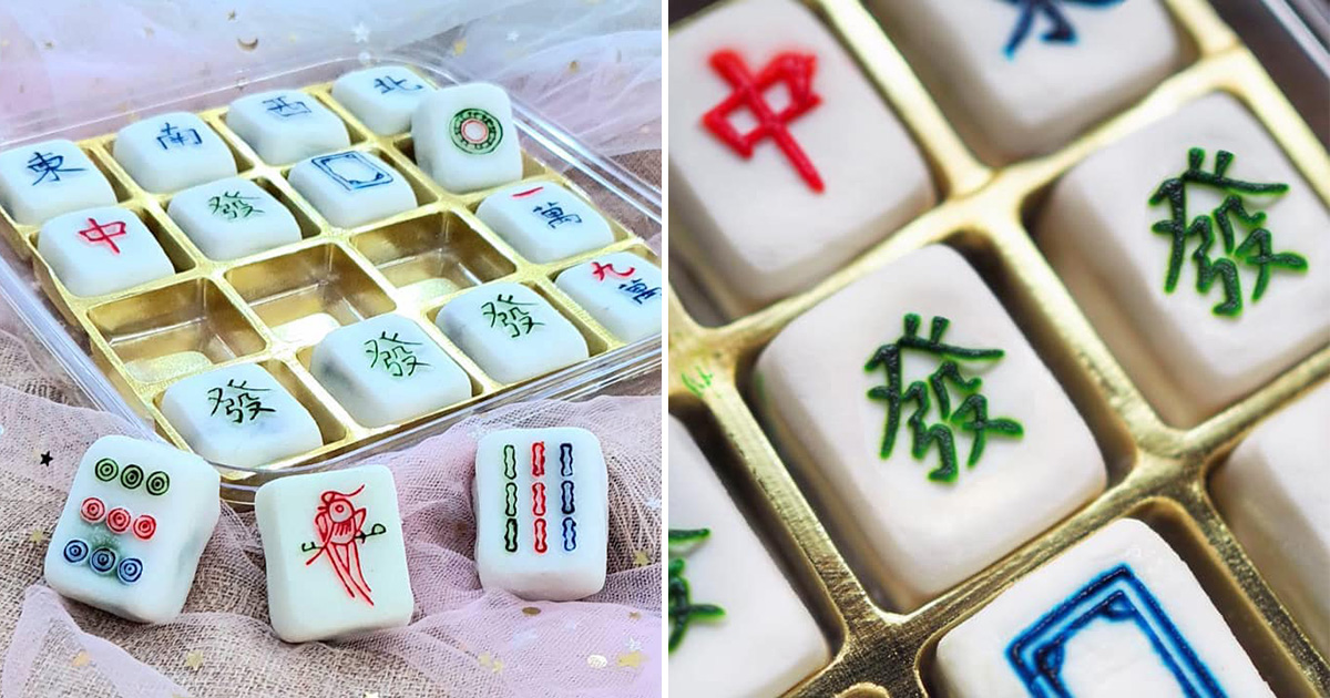 Food retailer in Bedok has handmade Mahjong Mooncakes from $26 per box that look like the real thing