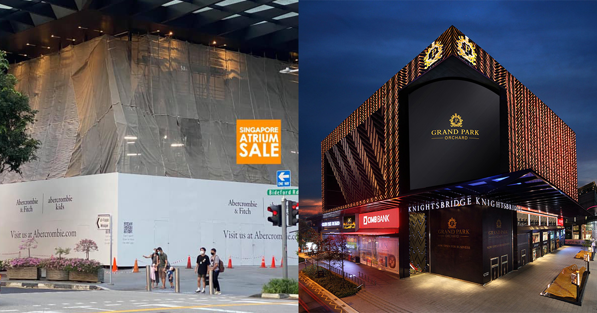 Abercrombie & Fitch reportedly returning to S'pore after renovation hoarding spotted at Knightsbridge Mall