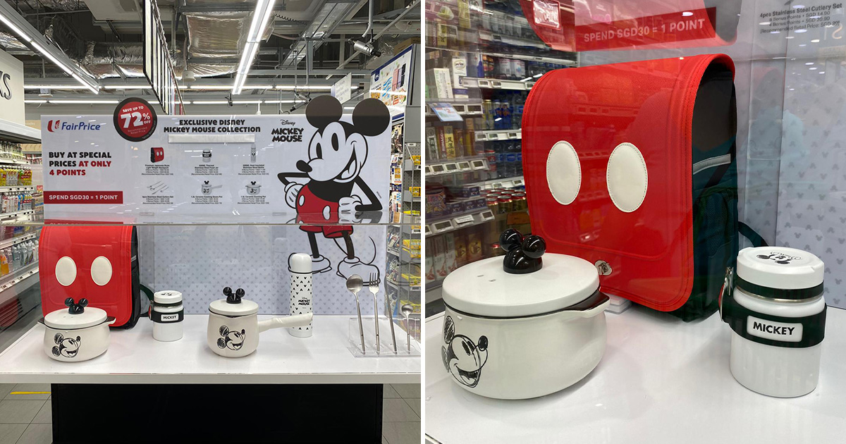 FairPrice launching Disney Mickey Mouse Collection, has Mickey-themed cookware, Japanese Backpack & more