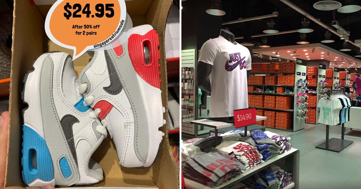 Nike Factory Store in Changi has 50% OFF Kids & Toddlers Shoes with prices as low as $9.95