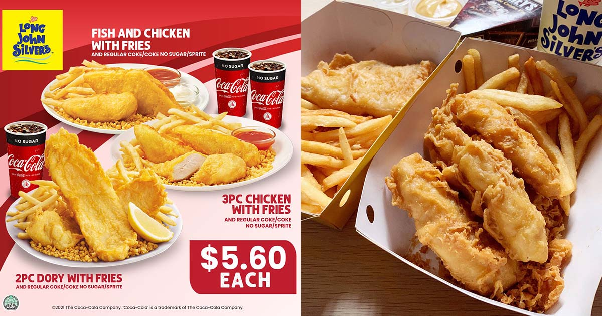 Long John Silver's offers Fish & Chicken Combo Meals at only $5.60 because National Day is coming