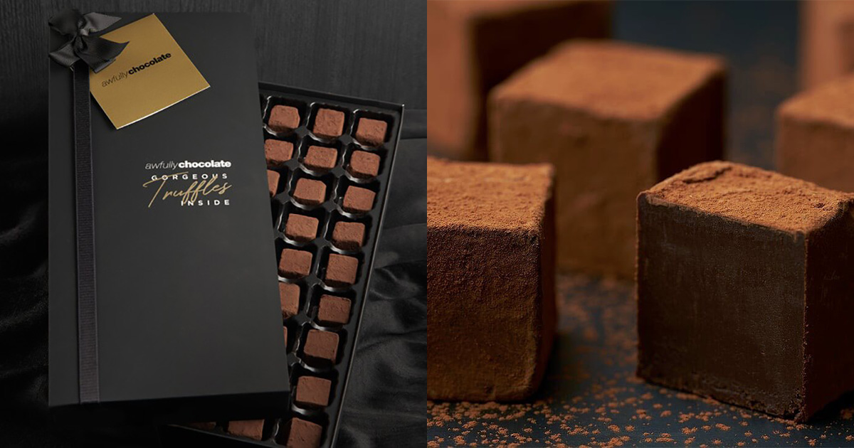 Awfully Chocolate offers 1-FOR-1 on 36pc Dark Chocolate Truffles in Friendship Day Promotion