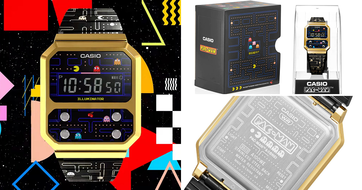 Casio launching PAC-MAN themed Vintage A100 Watch in collaboration with Bandai Namco