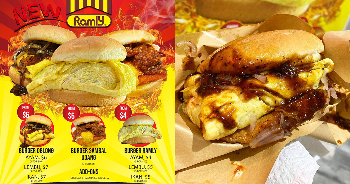 Beef Bro launches new Ramly Burgers from $4, has Egg-wrapped Patties with Sambal Sauce & more