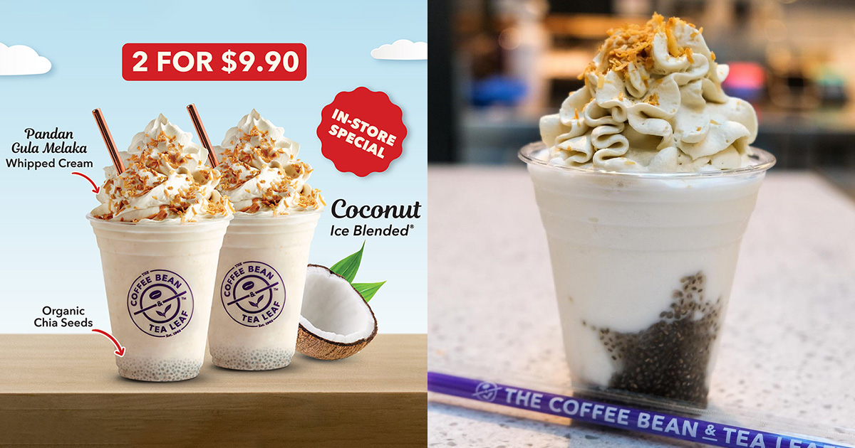 Coffee Bean's offer on Coconut Ice Blended Drink means you pay less than $5 per cup this August