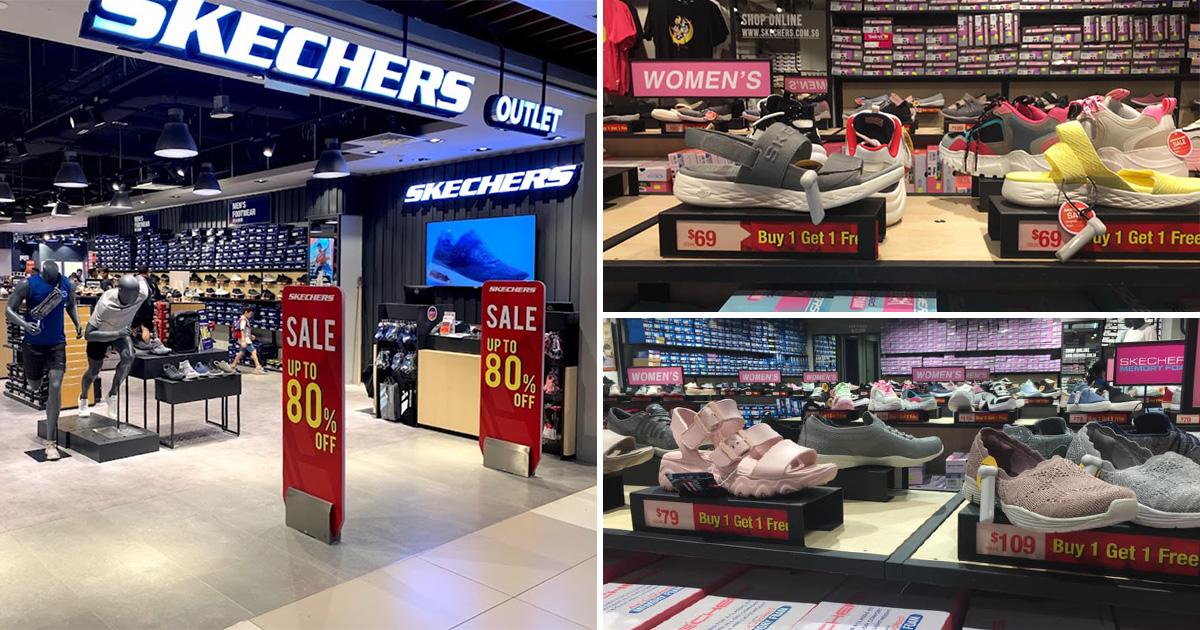 Skechers Outlet in IMM has 1-FOR-1 Shoe Sale with prices as low as $34.50 per pair till Sep 26