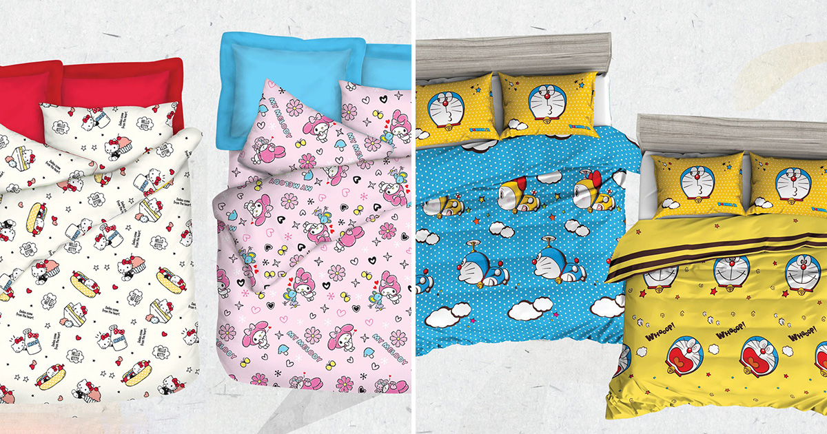 Isetan S'pore offers up to 50% OFF Sanrio, Disney & Doraemon Bedlinen Products from $39 till Sep 8