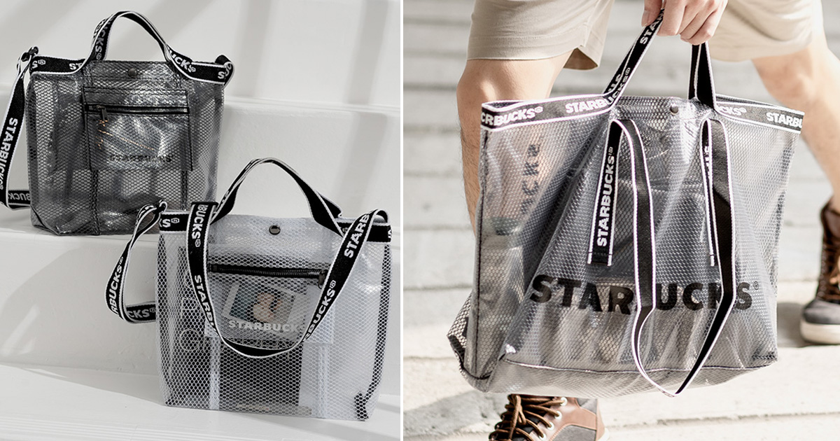 Starbucks launching Semi-Transparent Tote & Sling Bags from $26.90 in S'pore stores from Aug 30