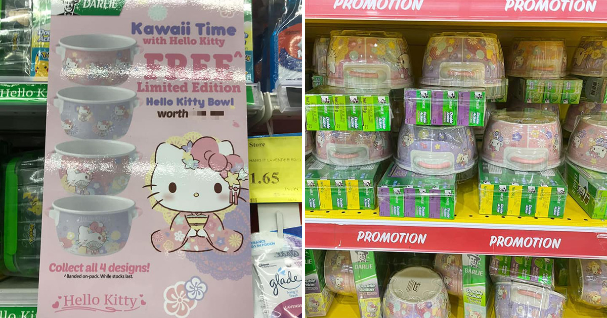 Darlie S'pore to give away FREE Hello Kitty Bowls with toothpaste bundle soon, here's a quick peek at the designs