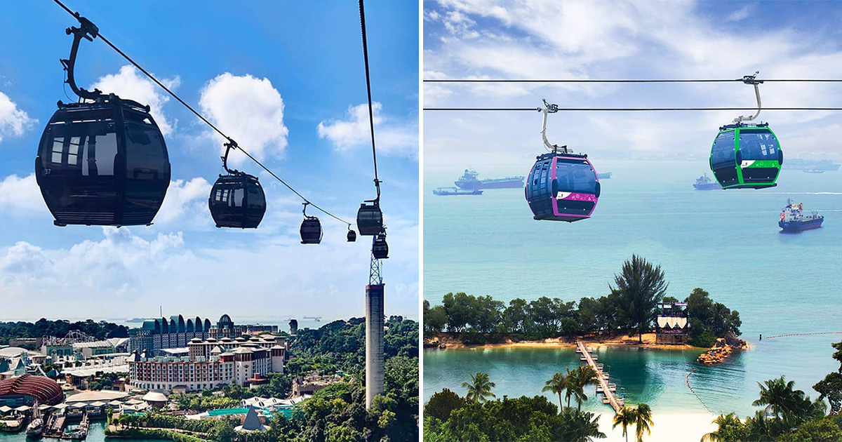 Pay only $3 per adult ticket for S'pore Cable Car Round Trip on Sentosa Island for a limited time