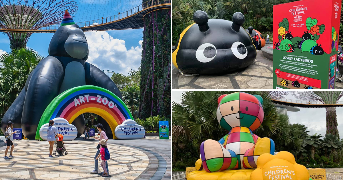 Giant Animal Art Inflatables have taken over Gardens by the Bay, FREE admission for all till Oct 3