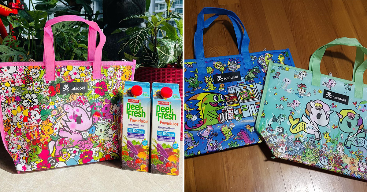 Marigold S'pore giving away FREE Tokidoki Cooler Bags with purchase of Peel Fresh Juices till Sep 30