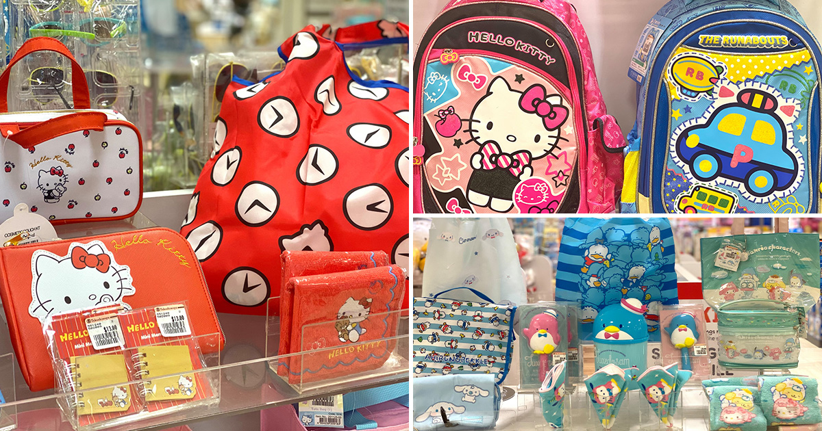 Takashimaya Sanrio Clearance Sale till Sep 30 has lots of merch featuring Hello Kitty, My Melody, Little Twin Stars & more
