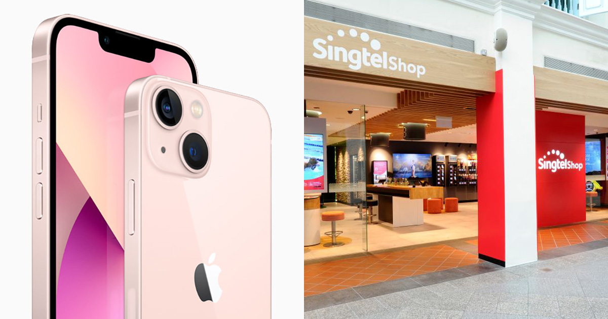 Singtel releases Contract Price Plans for all iPhone 13 models with monthly subscription from $49.90