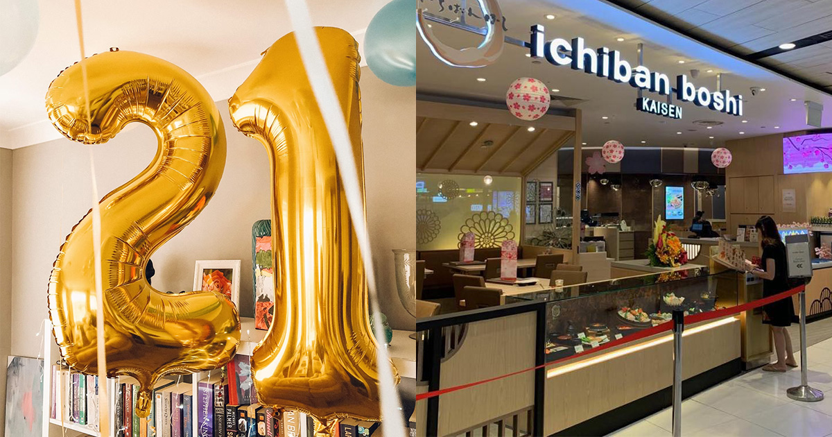 Ichiban Boshi offers 21% OFF total bill for 21-year-olds from Sep 21 – Oct 11 in 21st Anniversary Promotion