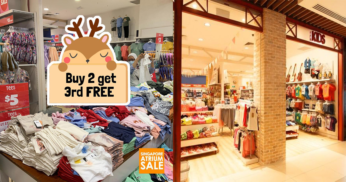 Cotton On Kids Outlet in IMM has Buy 2 Get 1 FREE Sale on clothing & shoes from $3 this September