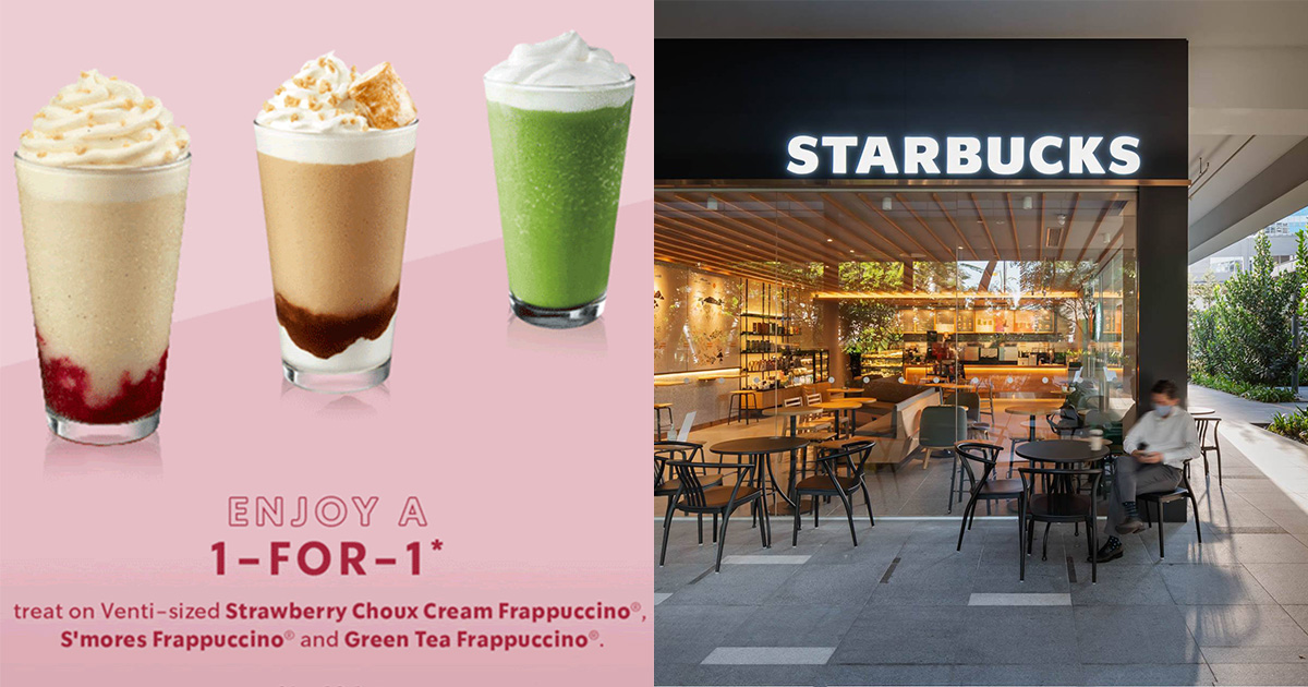 Starbucks S'pore to offer 1-FOR-1 treat on selected Frappuccino Drinks from Sep 21 – 23