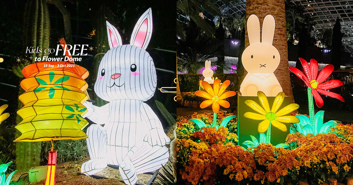 Kids Enter FREE to Flower Dome at Gardens by the Bay till Oct 3 because Mid-Autumn Festival is here