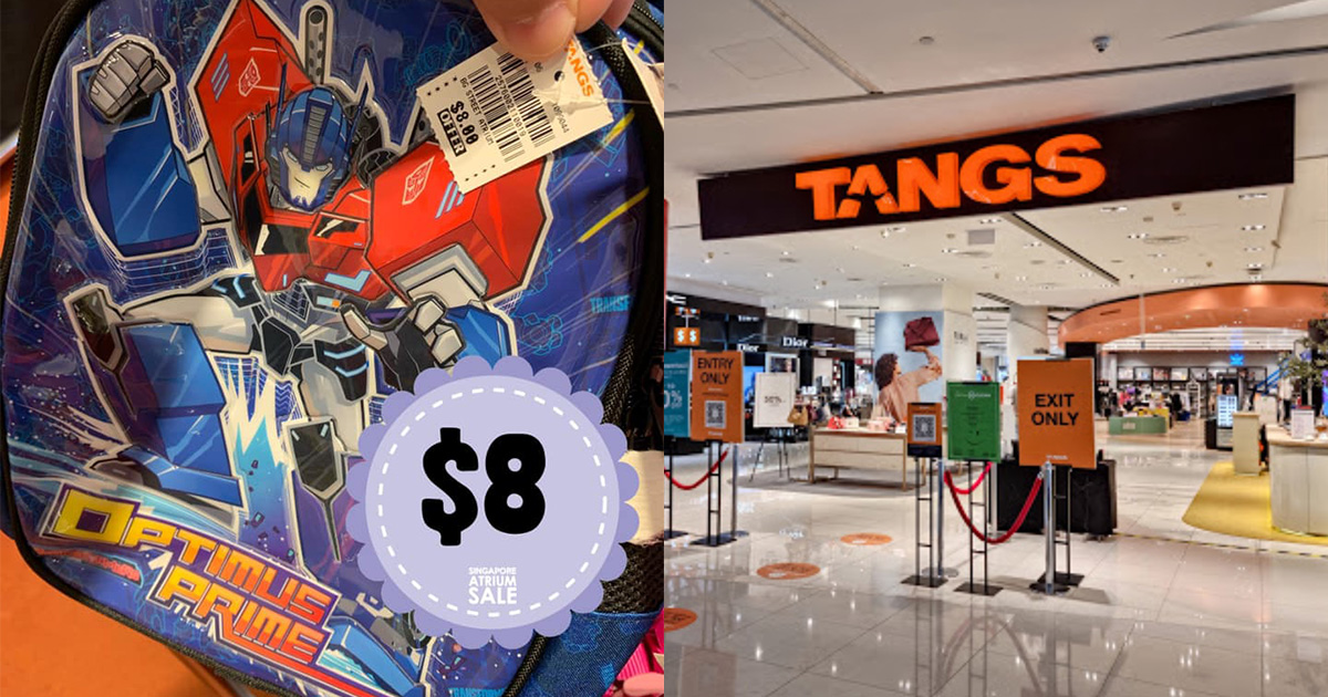 TANGS VivoCity Kids Bags & Pouches Sale from $2.90 has Peppa Pig, Transformers, Disney & more till Oct 25