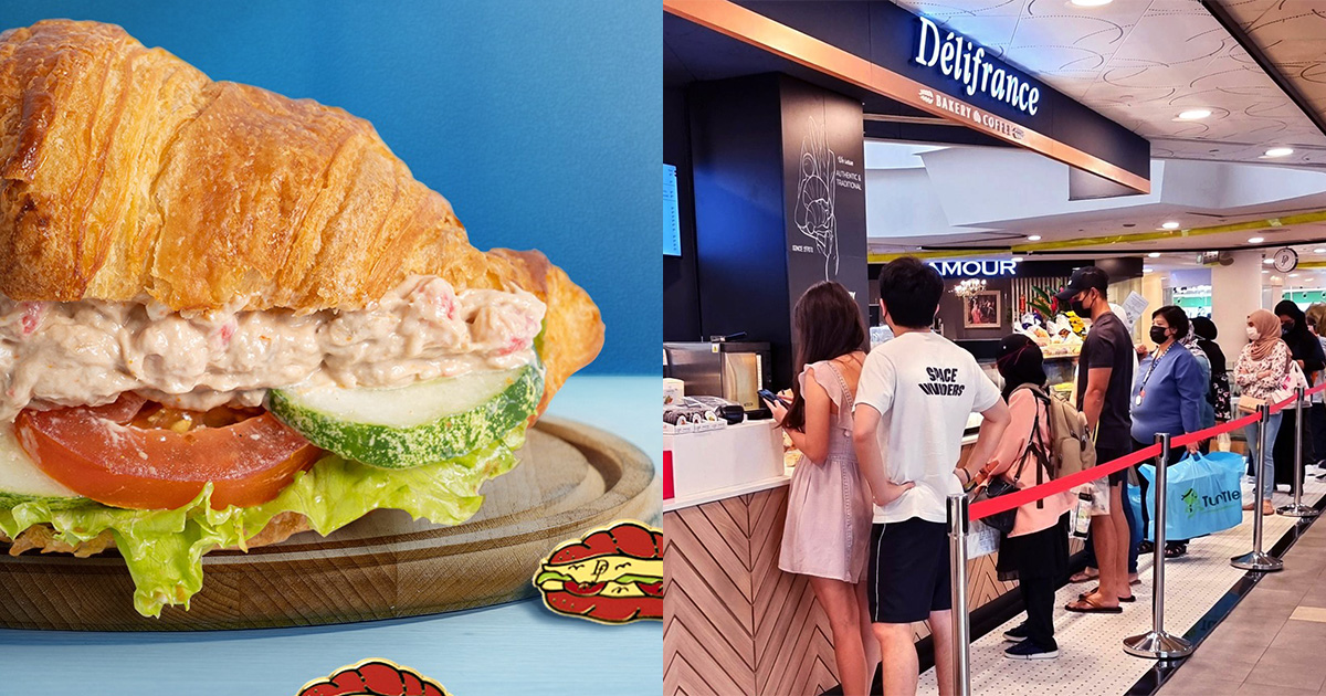 Pay only $5 for Delifrance Sandwich Croissants at all S'pore outlets all day till Sep 28 because 36th Anniversary