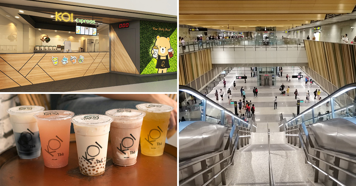 KOI S'pore opening new Express outlet in Woodlands MRT around Thomson-East Coast Line platform