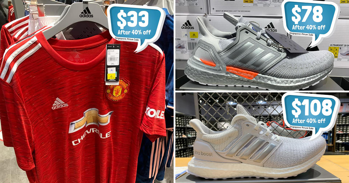 Adidas Outlet City Square has Ultraboost Shoes from $72 and Soccer Jerseys from $30 for a limited time