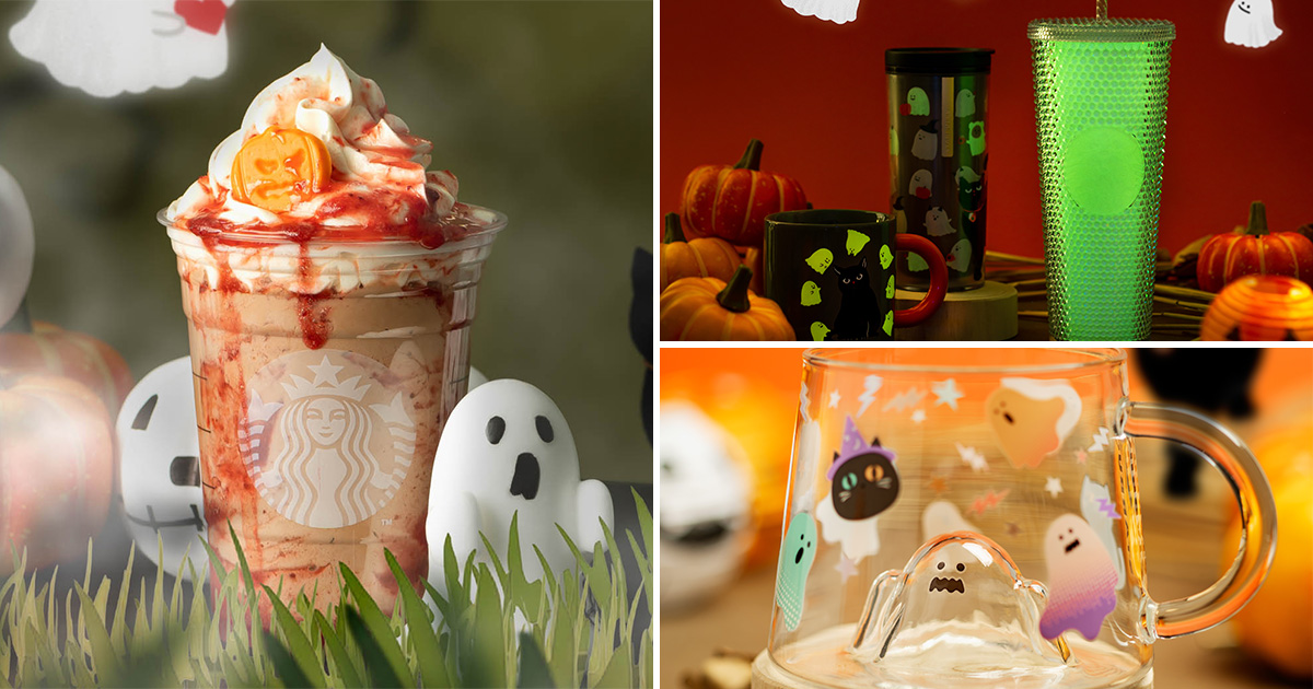 Starbucks launching Halloween-themed Frappuccino & Glow-in-the-Dark Drinkware from Oct 6