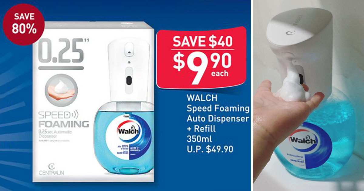 FairPrice selling Walch 'Speed Foaming' Automatic Dispenser for $9.90, a massive 80% discount till Oct 10