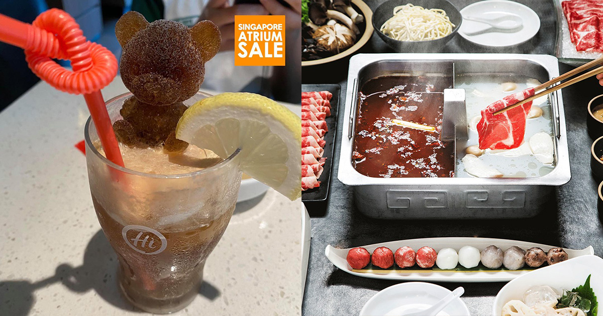 Haidilao S'pore has FREE Coke Drinks with Teddy & Rose Ice Cubes you can enjoy simply by asking