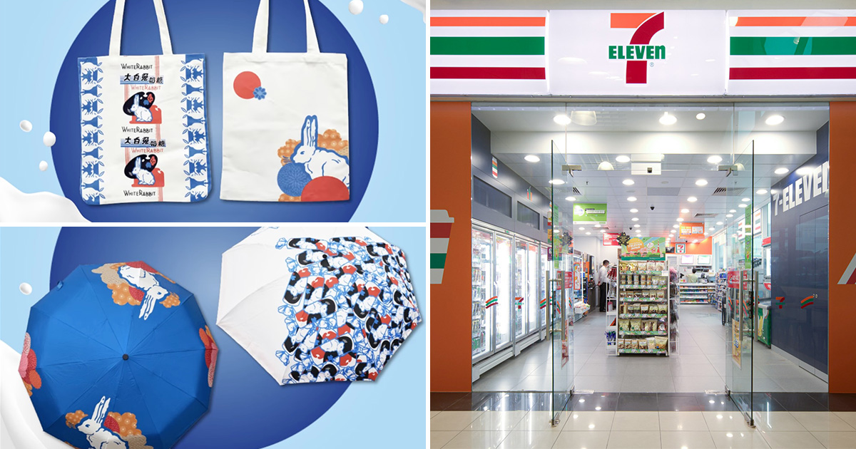 7-Eleven selling Giant White Rabbit Candy Pack, Themed Bags & Umbrellas from $5 in S'pore stores