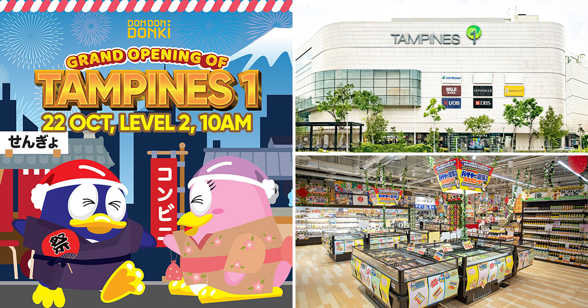 Don Don Donki Tampines 1 will officially open on Oct 22, likely have exclusive discounts on weekend opening